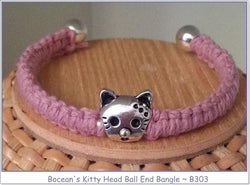 Bocean's Kitty Head Ball End Bangle ~ B303 - Boceans of Cape Cod