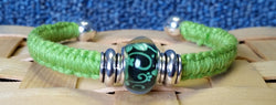 Boceans Green Petal Bangle Cuff Bracelet ~B379 - Boceans of Cape Cod