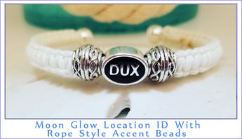 Moon Glow Location ID Bracelet With Rope Style Accent Beads - Boceans of Cape Cod