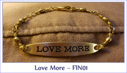 "Love More  ~ FIN01 From our new serious ""Fishing For Inspiration"" - Boceans of Cape Cod"