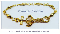 Brass Anchor & Rope ~ Fishing Inspiration Series ~ FIN03 - Boceans of Cape Cod