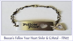 Bocean's Follow Your Heart Silver, Nickel & G-Metal ~ FIN07 - Boceans of Cape Cod