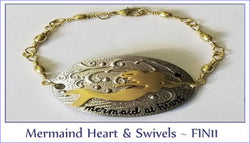 Mermaid Heart & Swivels ~ FIN11 - Boceans of Cape Cod
