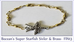 Boceans's Super Starfish Silver & Brass ~ FIN13 - Boceans of Cape Cod