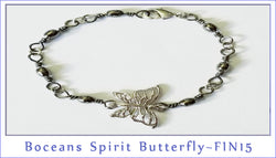 Boceans Spirit Butterfly ~ FIN15  Gmetal & Silver - Boceans of Cape Cod