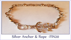 Silver Anchor & Rope ~ FIN20 - Boceans of Cape Cod