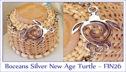 Silver New Age Turtle ~ FIN26 - Boceans of Cape Cod