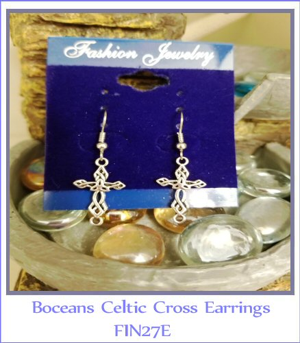 Boceans Celtic Cross Earrings ~ FIN27E - Boceans of Cape Cod
