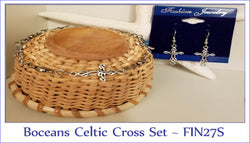 Boceans Celtic Cross Bracelet & Earring Set ~ FIN27S - Boceans of Cape Cod