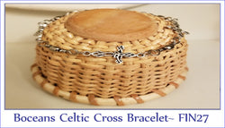 Boceans Celtic Cross & Barrel Swivel Bracelet ~ FIN27 - Boceans of Cape Cod