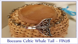 Boceans Celtic Whale Tail & Barrel Swivel Bracelet ~ FIN28 - Boceans of Cape Cod