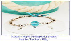 Boceans Wrapped Wire Inspiration Sea Glass Bracelet  ~ FIN43 - Boceans of Cape Cod