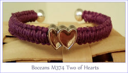 Boceans Two of Hearts Ball End Bangle ~ M374 - Boceans of Cape Cod
