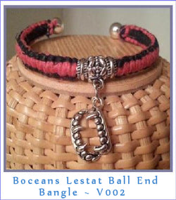 Bocean's Lestat Ball End Bangle Bracelet ~ V002 - Boceans of Cape Cod