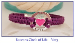 Boceans Circle of Love Valentine Series Ball End Bangle ~ V015 - Boceans of Cape Cod