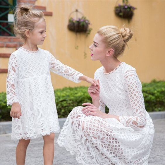 807324a67a Sale · Mother and Daughter Matching Lace Dresses - Family Matching Fashion