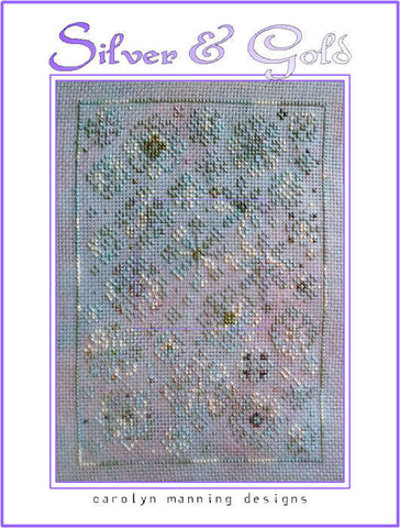 Silver & Gold Carolyn Manning Cross Stitch Chart