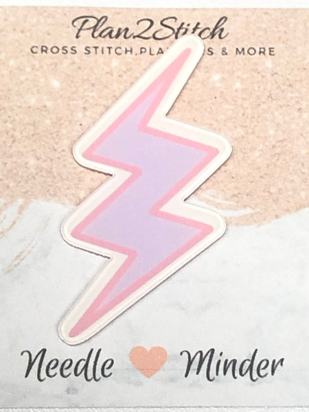Lilac Lightening Bolt Needle Minder
