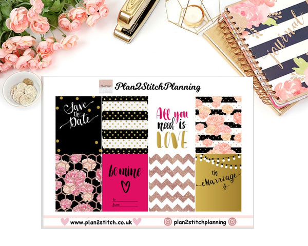 Save The Date Full Box Erin Condren Planner Stickers