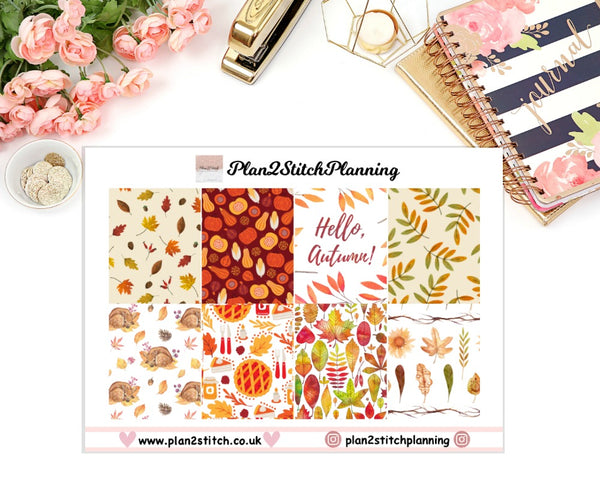 Hello Autumn Full Box Erin Condren Planner Stickers