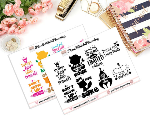 Cute Quotes Full Box Erin Condren Planner Stickers
