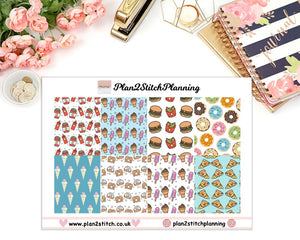 Junk Food Full Box Erin Condren Planner Stickers