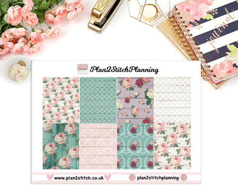 Shabby Chic Full Box Erin Condren Planner Stickers