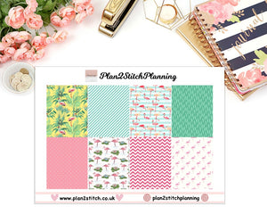 Pink Flamingo Full Box Erin Condren Planner Stickers