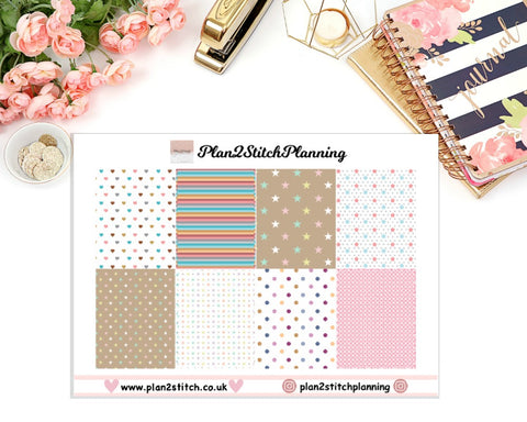 Hearts & Stars Full Box Erin Condren Planner Stickers