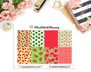 Red Watermelon Full Box Erin Condren Planner Stickers