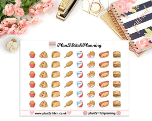 Junk Food Planner Stickers