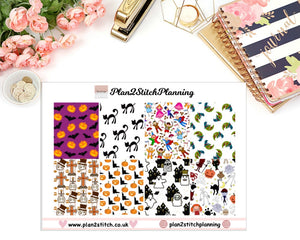 Halloween Full Box Erin Condren Planner Stickers