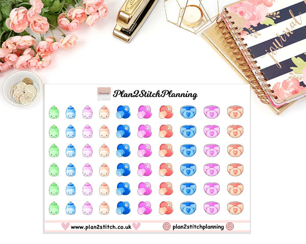Baby Supplies Planner Stickers