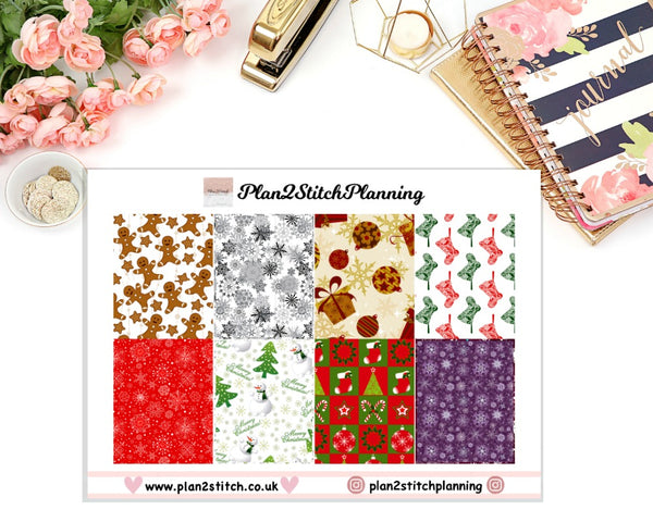 Festive Christmas Full Box Erin Condren Planner Stickers