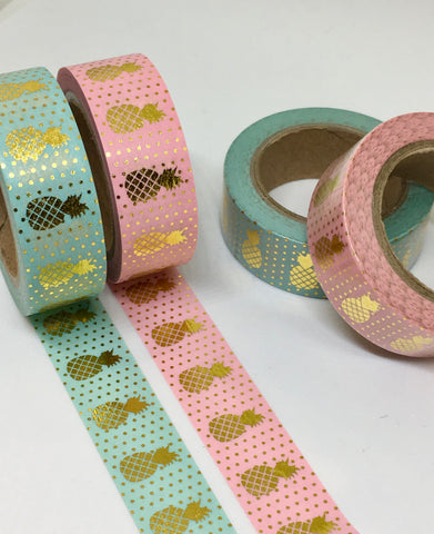 Gold Foil Pineapple Washi Tapes