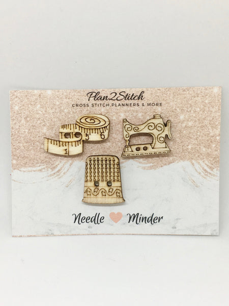 Set of 3 Wooden Needleminder