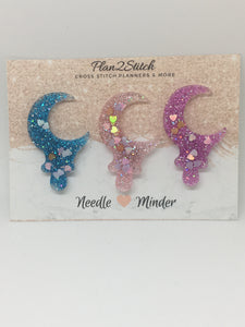 Sequin Sparkle Moon Needleminder