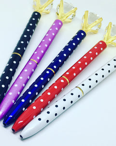 Luxury Polka Dot Diamond Ball Point Pen