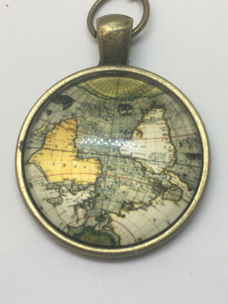 Antique Bronze World Map Bookmark