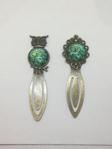 Antique Bronze Peacock Bookmark