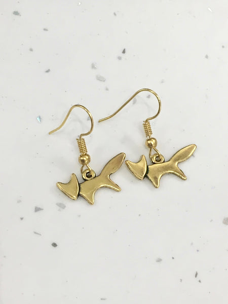 Cute Fox Dangly Earrings