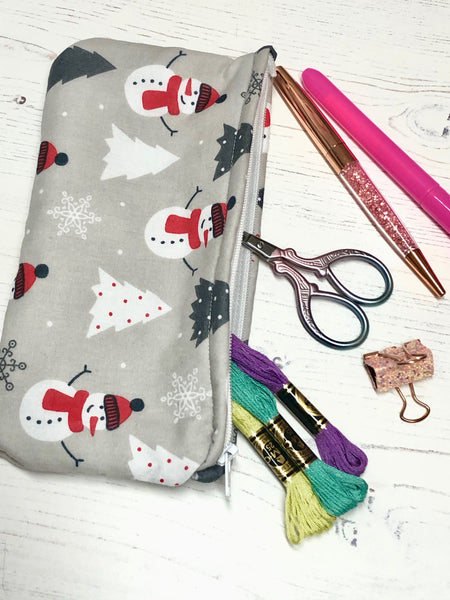 Winter Wonderland Pocket Pouch/ Pencil Case/ Storage