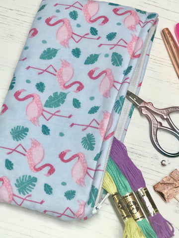 Tropical Flamingo Pocket Pouch/ Pencil Case/ Storage