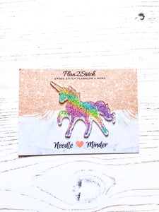 Rainbow Glitter Unicorn Needle Minder