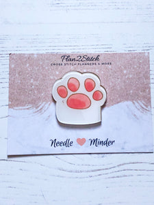 Cat Paw Needleminder for Cross Stitch and Embroidery