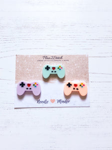 Gamer Controller Needleminders for Cross Stitch and Embroidery
