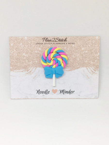 Cute Candy Swirl Lollipop Needleminder