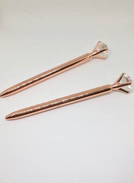 Luxury Rose Gold Diamond Ball Point Pen