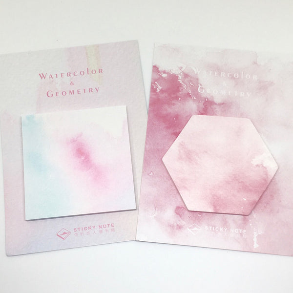 Beautiful Watercolour Sticky Notes