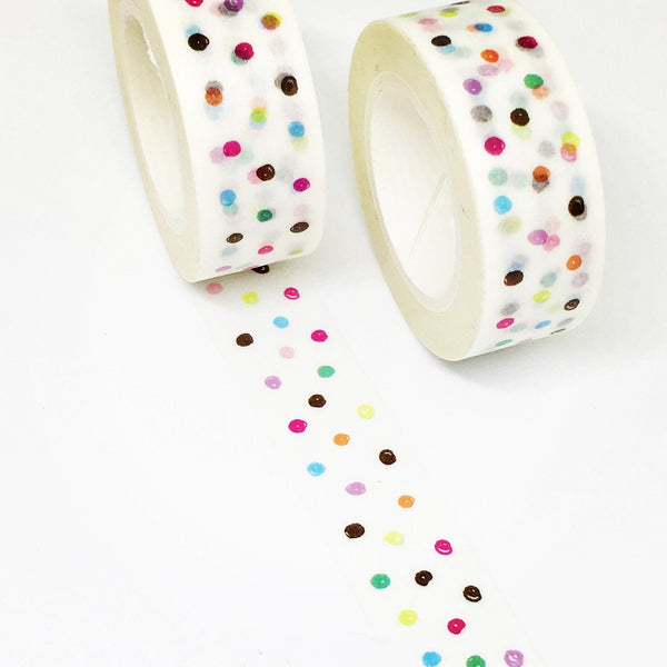 Rainbow Dot Washi Tape
